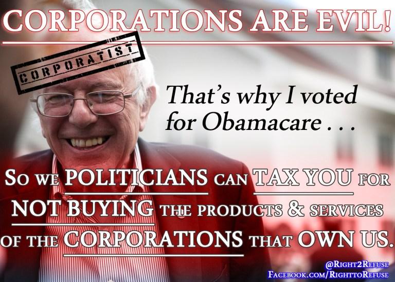 Bernie Sanders Coporatist