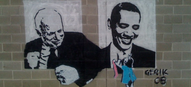 John McCain and Obama by Grant Stancliff