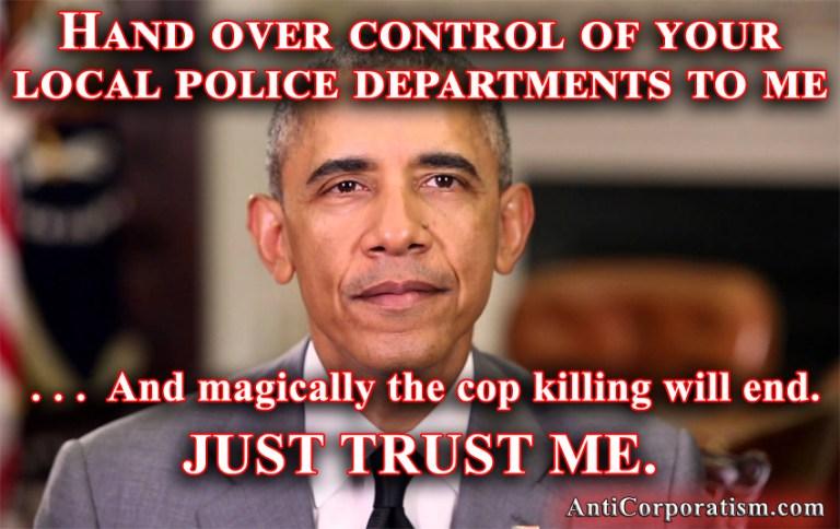 Obama seize of local police