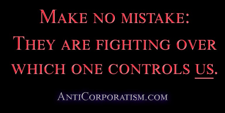 they are fighting over control anticorporatism