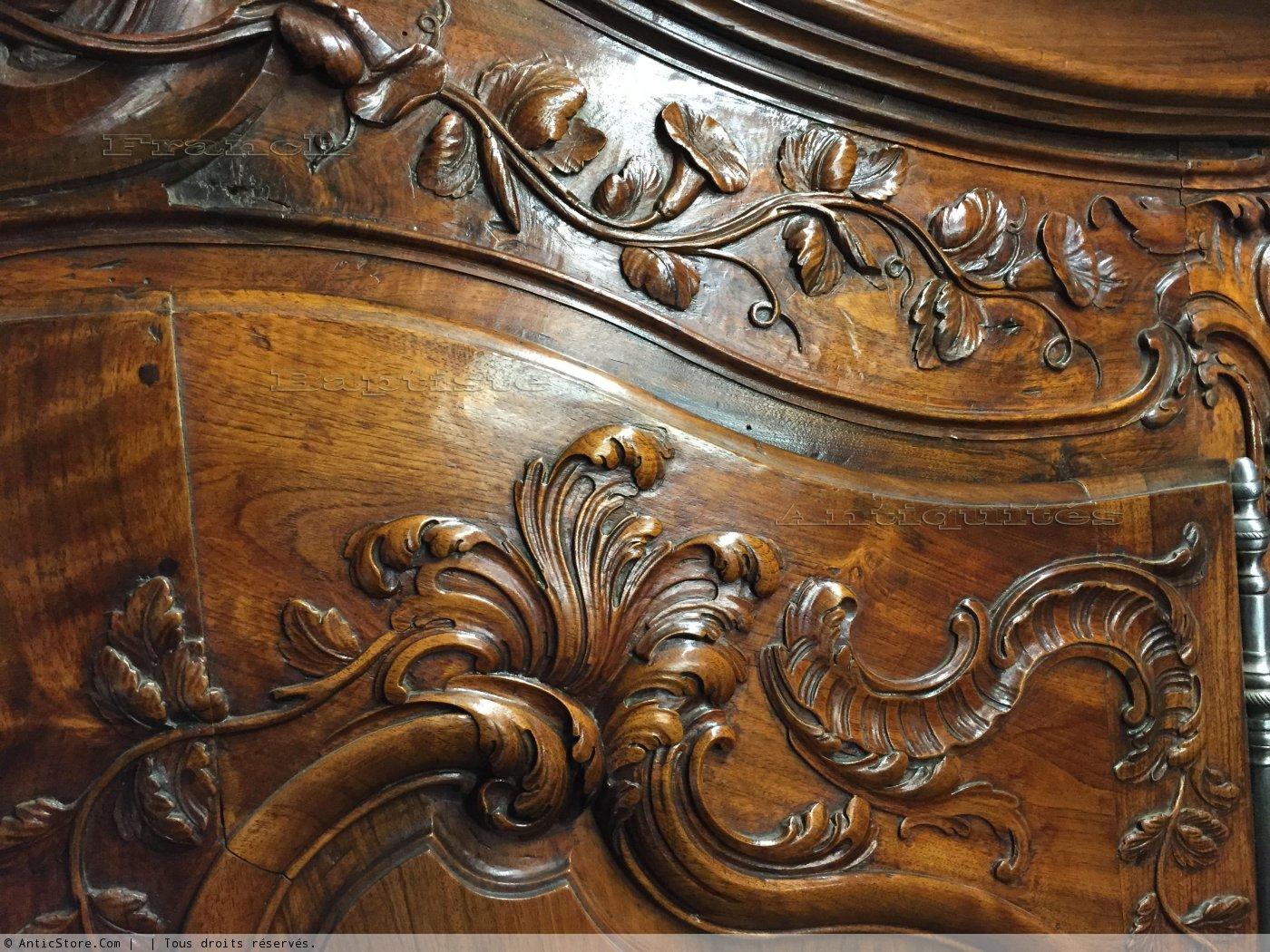 Armoire De Mariage Nmes Poque Louis XV XVIIIe Sicle