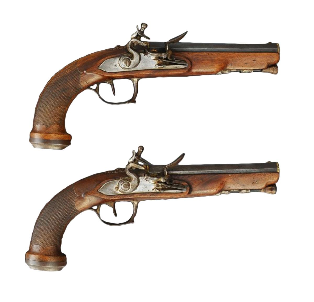 paire de pistolets a silex 1er empire