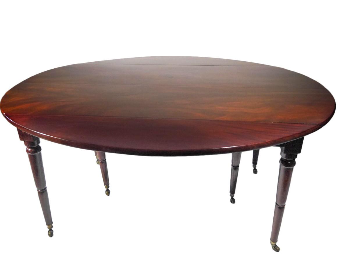 table de salle a manger en acajou massif directoire epoque xviiie