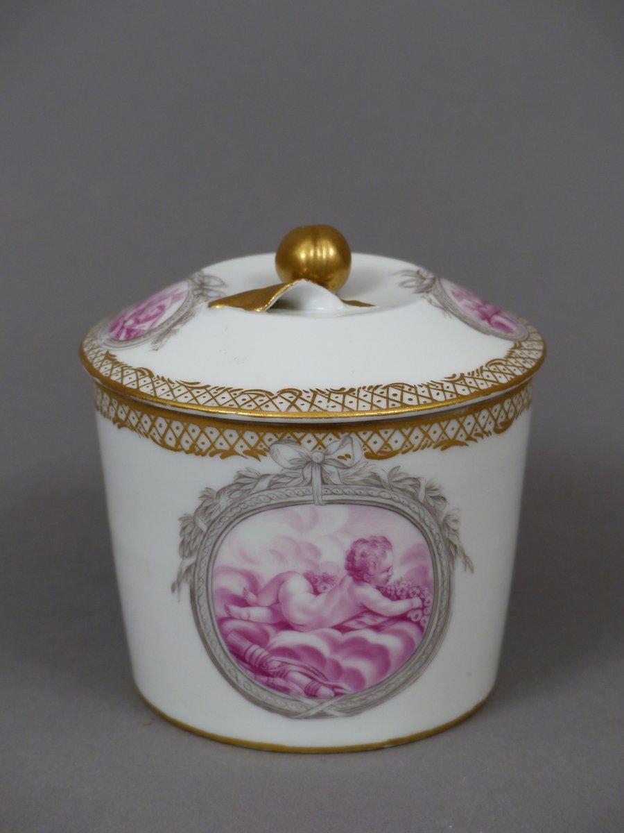 Pot Sucre Couvert En Porcelaine De Vincennes Sign