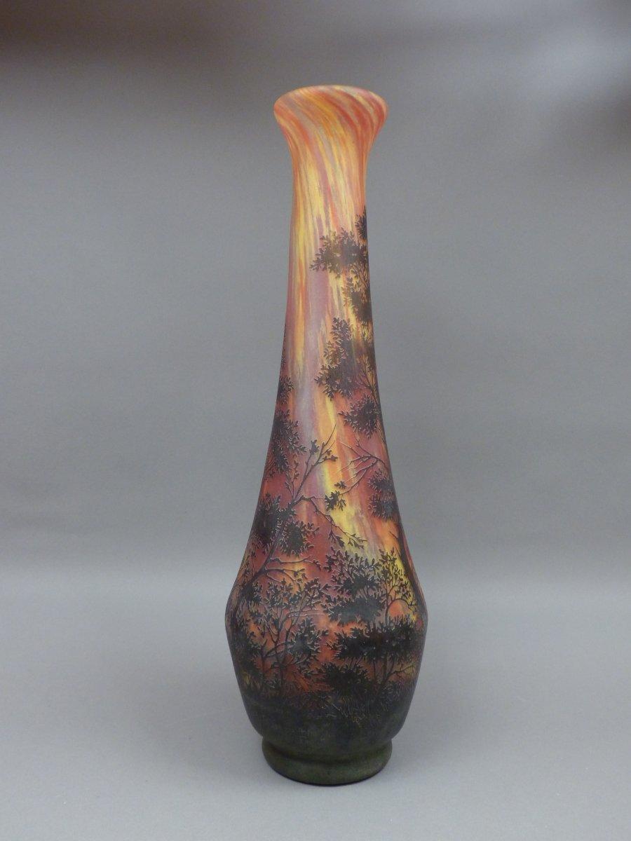 Vase En Pte De Verre Sign Daum XXe Sicle N55155