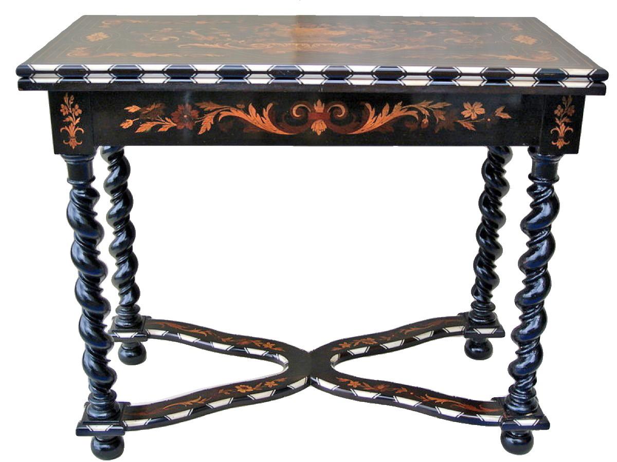 table a jeux epoque napoleon iii