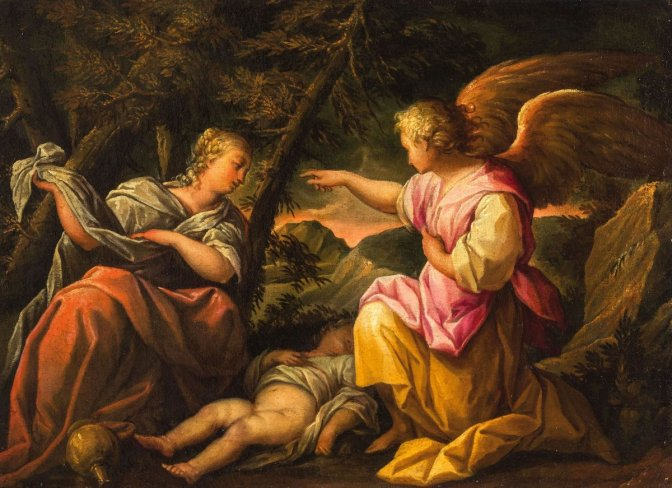 Image result for hagar and ishmael