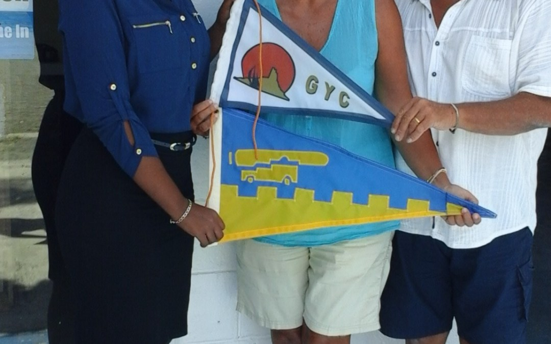 Burgee exchange with Gruissan Yacht Club