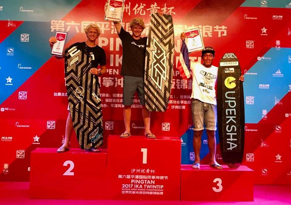 Introducing the new Youth Open Twin Tip Racing Kiteboard World Champion… Tiger Tyson!