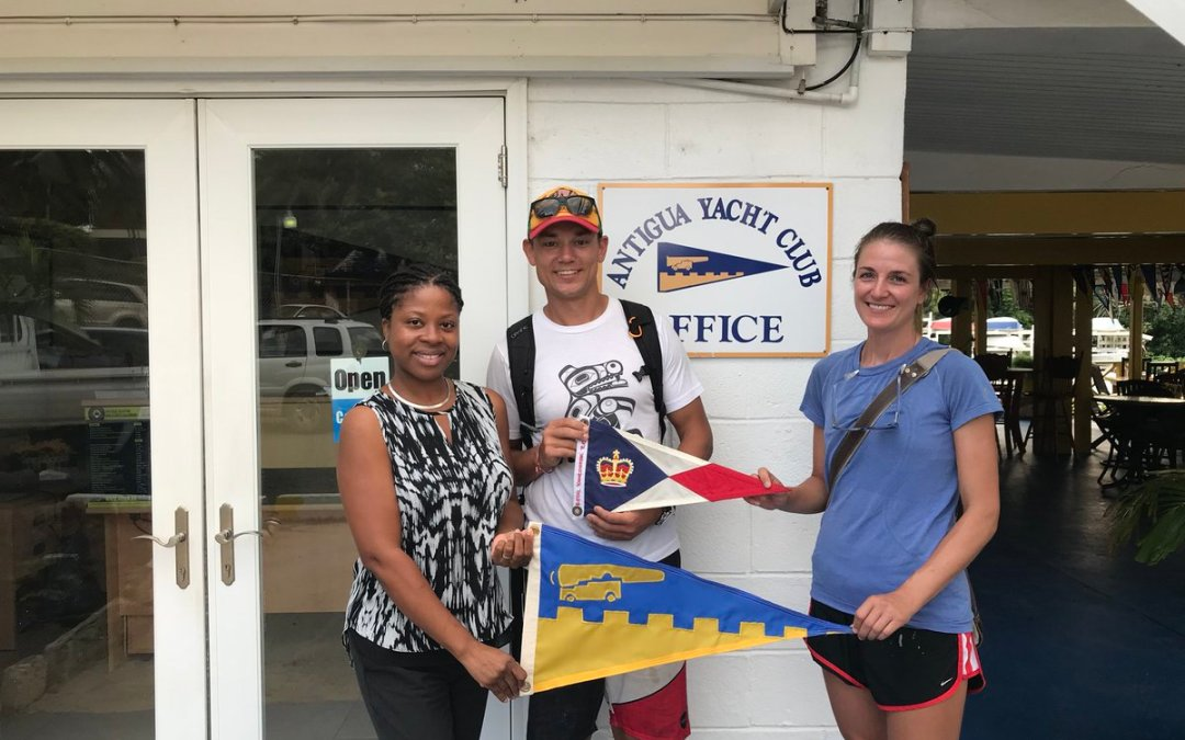 Burgee Exchange with the Royal Vancouver Yacht Club