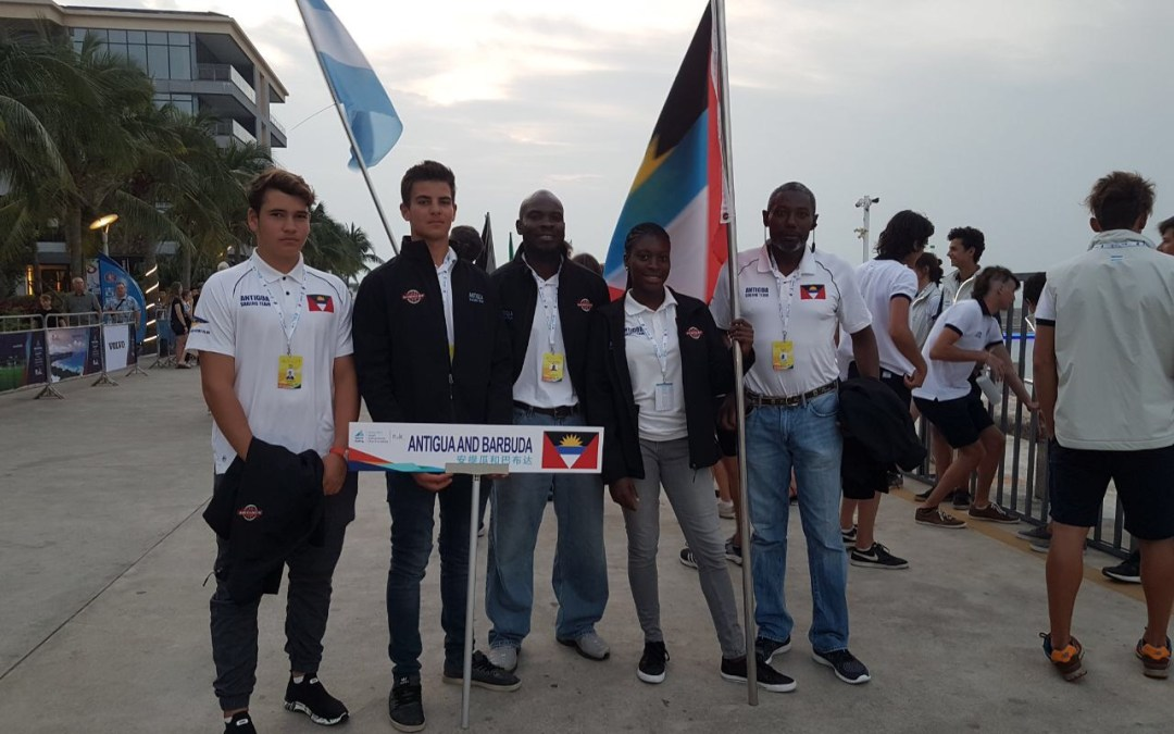 Team Antigua at Youth World Sailing Championships in China