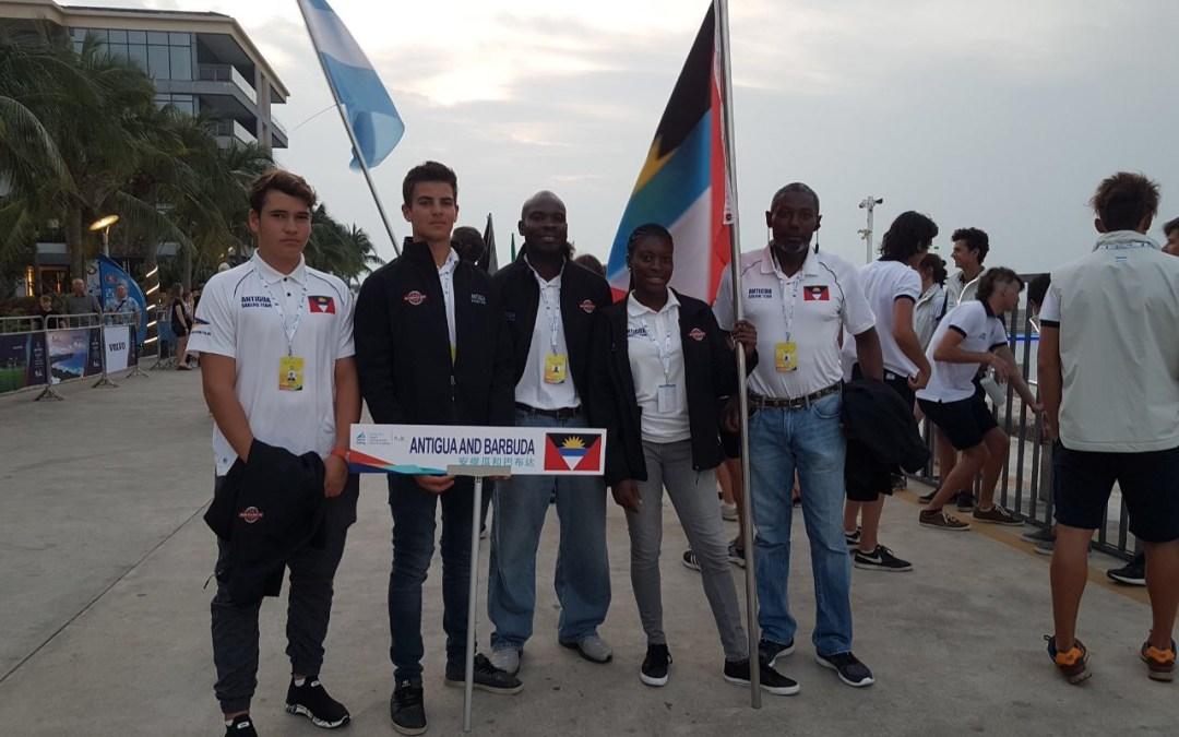 Team Antigua at Youth World Sailing Championships in China