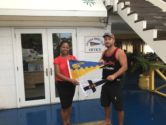 Burgee Exchange with Kingston Yacht Club