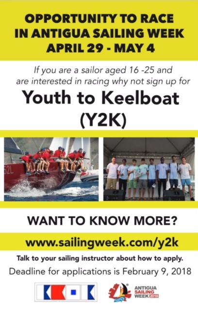 Opportunity for youths to sailing in Antigua Sailing Week