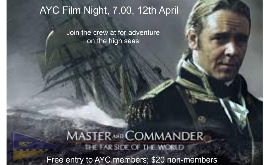 """Film Night April – """"Master & Commander"""""""
