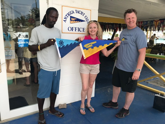 Burgee Exchange with Pacific Mariners Yacht Club