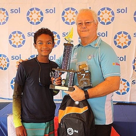 13th Annual Sol St. Maarten Optimist Championship 2018 won by Antiguan Sailor Theodore Spencer!