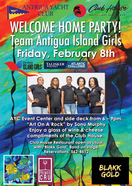 Welcome Home Party for Team Antigua Island Girls
