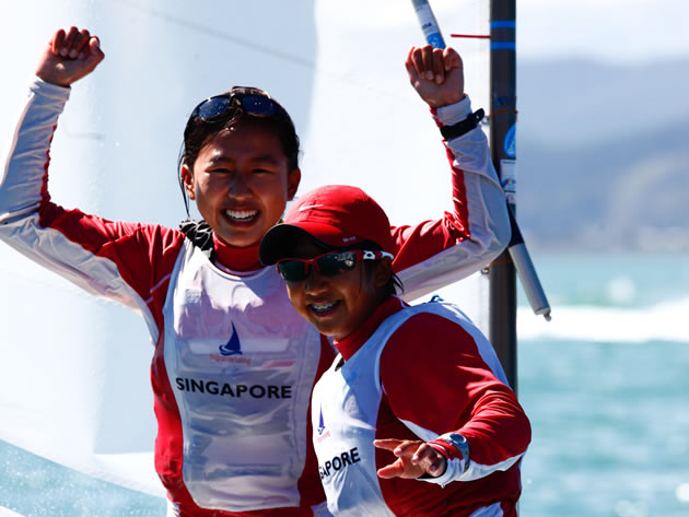 The Optimist Worlds; one of the few competitions where girls and boys compete together