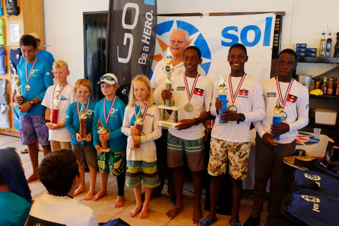 Ozani Lafond from Antigua overall winner of the 14th Annual Sol St. Maarten Optimist Championship 2019