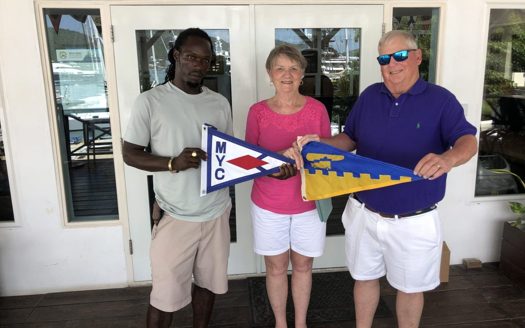 Burgee Exchange with Mathews Yacht Club