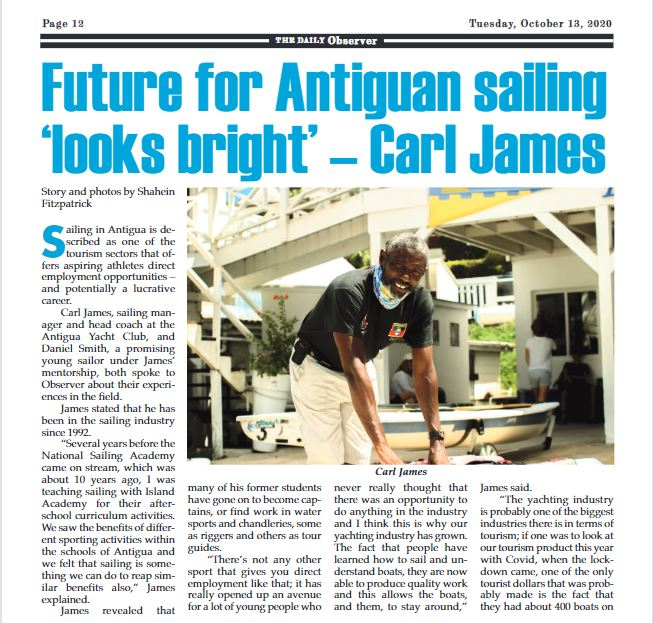 Future for Antigua sailing 'looks bright' – Karl James