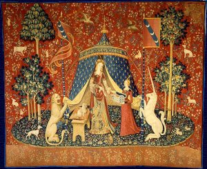 Damen med enhörningen., musee Cluny i Paris. Foto Public domain