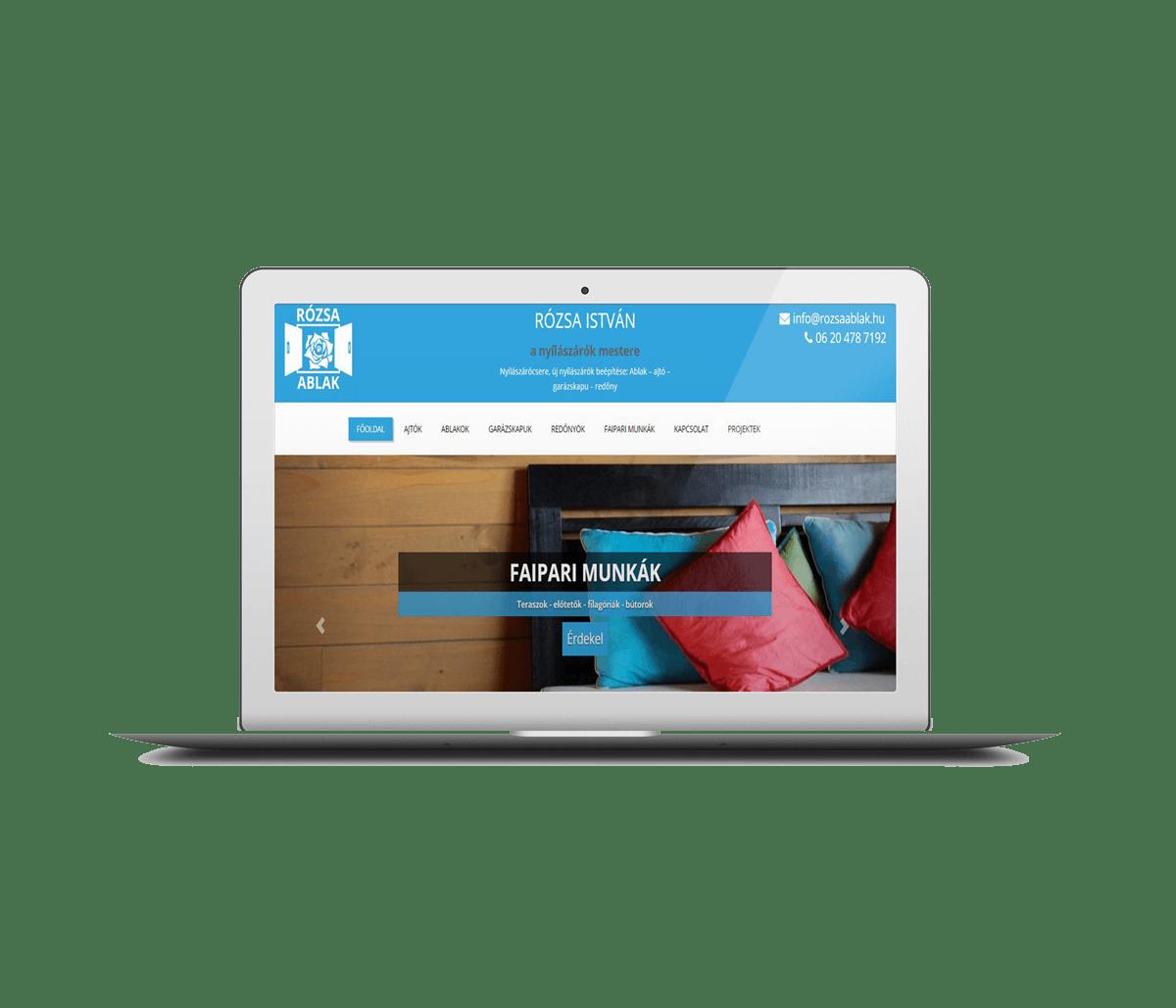 honlap vállalkozónak - nyílászárós weboldal