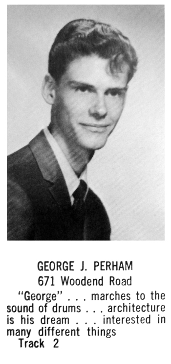 Antinozzi Associates' Geroge Perham as he appeared in his 1970 Stratford High School yearbook.
