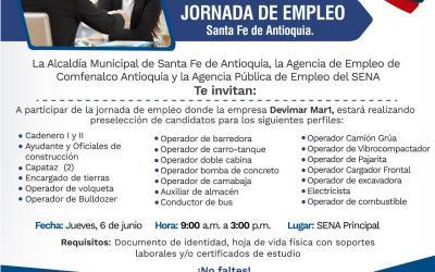 Jornada de obtención de empleo en Santa Fe de Antioquia