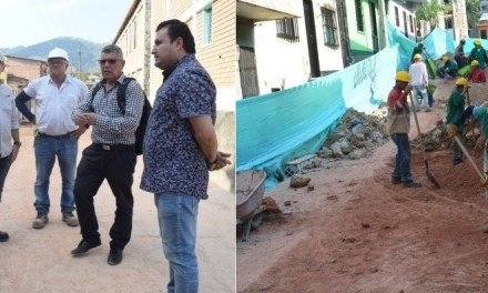 Administración Municipal de Caracolí evalúa avance de obras en las vías del municipio