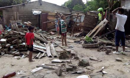 Víctimas del vendaval en Santo Domingo