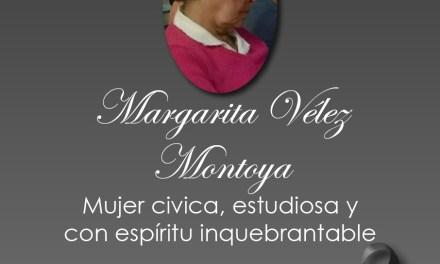 Antioquia Crítica lamenta el fallecimiento de Margarita Vélez
