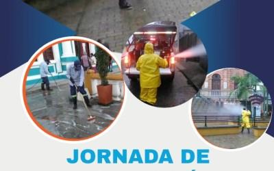 Desinfección en las calles de Yolombó