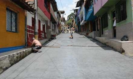 Mejoramiento en las calles de Amagá