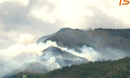 Incendio en el Cerro Quitasol en Bello