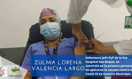 San Roque ya vacunó a su primera enfermera contra el COVID-19
