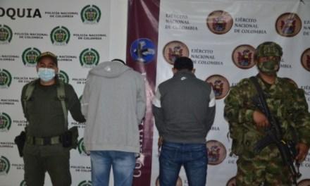 En Ituango, fueron capturados «Moño Cañas» y «Neymar»