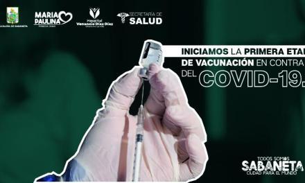 Sabaneta inicia la primera etapa de vacunación