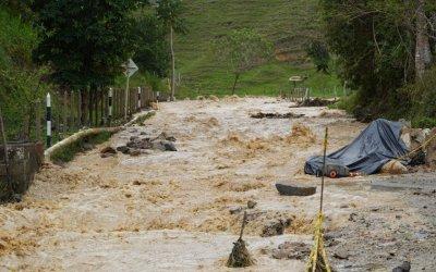 Seis municipios en Antioquia reportaron crecientes de ríos y quebradas en las últimas horas