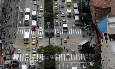 El flujo vehicular de Medellín está por debajo del 14%