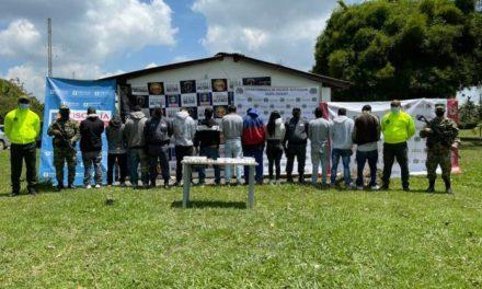 """Fueron capturados once integrantes de la banda """"El Laberinto"""" en Rionegro"""