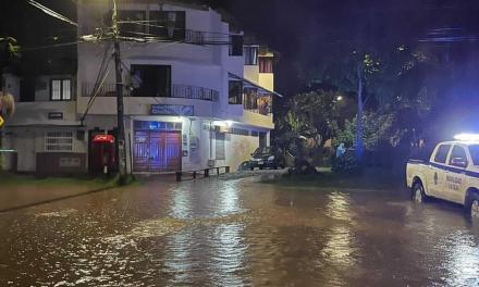 Inundaciones en diferentes sectores de La Ceja por las fuertes lluvias