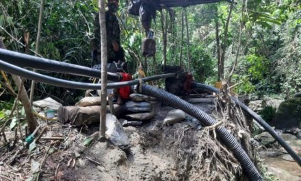 En un operativo se capturó a cinco personas por minería ilegal en Sonsón