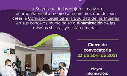 En el departamento se abre convocatoria para brindar acompañamiento técnico a Concejos Municipales que quieran crear o fortalecer comisiones para la equidad de la mujer