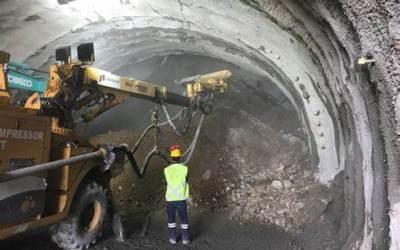 El túnel de Amagá está 17,9 puntos por encima del cronograma esperado