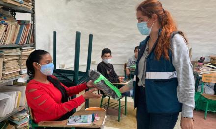 Estudiantes beneficiados de los proyectos de Gómez Plata