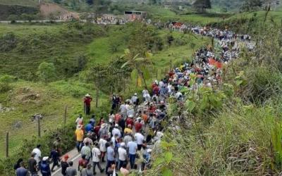 Campesinos de Anorí se movilizaron para el paro nacional del 28 de abril