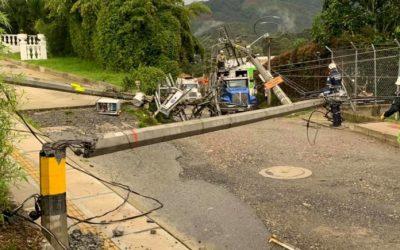 En El Retiro dejó afectaciones las fuertes lluvias