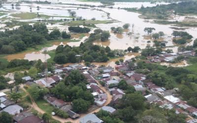 Dagran hizo presencia en El Bagre para apoyar en la atención de la emergencia registrada por inundaciones